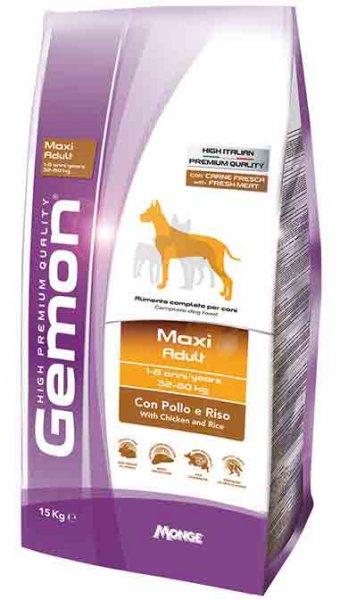 GEMON Maxi Adult chicken & rice -  суха храна за едри породи с пилешко и ориз