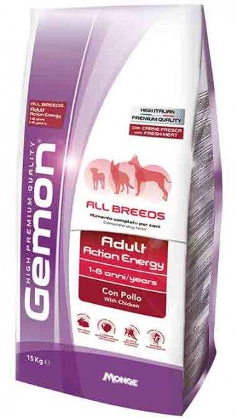 GEMON All Breeds Adult  Action Energy with chicken - суха храна за бременни, кърмещи, работни и кучета живеещи на открито