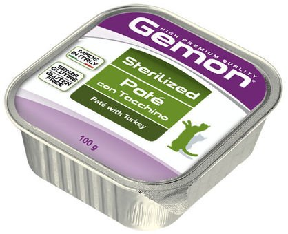 GEMON Sterilized turkey - пастет за кастрирани котки с пуешко