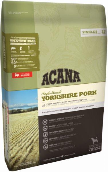 Acana Singles Yorkshire Pork - със свинско месо за кучета над 12 месеца, подходяща за всички породи 11.4 кг.