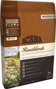 Acana Grain Free Ranchlands  - с говеждо месо, бизон и агнешко месо , подходяща за всички породи 11.4 кг.