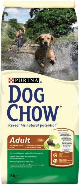 DOG CHOW ADULT храна за кучета с микс от меса и ориз