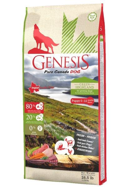 Genesis Pure Canada - Green Highland - Puppy за малки кученца без зърнени култури