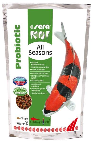 Sera Koi All Seasons Probiotic - храна с пробиотични бактерии за Кои