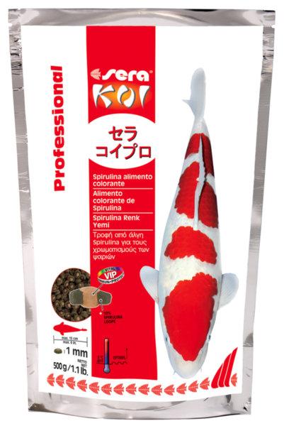 Sera koi proffesional spirulina food храна за подсилване на цветовете на риби КОИ и други езерни