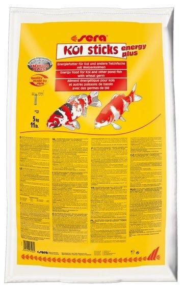Sera KOI Sticks Energy Plus - енергийна храна за Кои и други езерни риби, 40 л, 5 кг