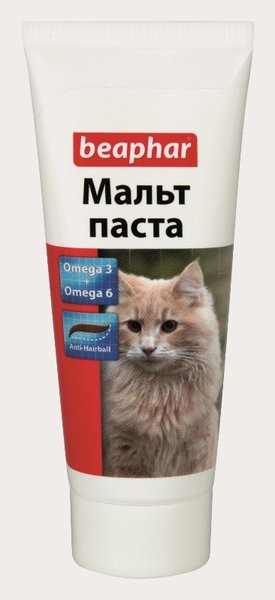 Малцова паста Beaphar с Omega 3 & Omega 6