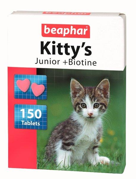 Beaphar витамини - сърца с Biotin и Taurine за малки котки