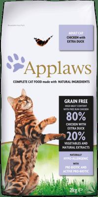 APPLAWS ADULT CHICKEN&DUCK суха храна за израснали котки с 80 % пиле и патица