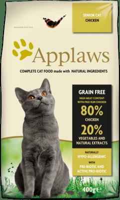 APPLAWS SENIOR CHICKEN суха храна за възрастни  котки над 10 г. с 80 % пиле