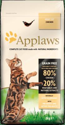 APPLAWS ADULT CHICKEN суха храна за израснали котки с 80 % пиле