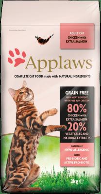 APPLAWS ADULT CHICKEN&SALMON суха храна за израснали котки с 80 % пиле и сьомга
