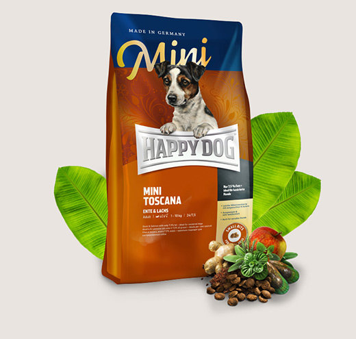 HAPPY DOG SUPREME MINI TOSCANA храна за кучета от дребни породи с патешко
