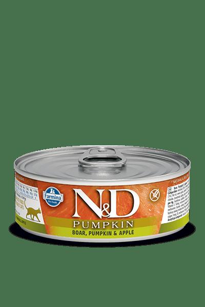 N&D CAT BOAR & PUMPKIN & APPLE консерва за котки с месо от глиган, тиква и ябълка