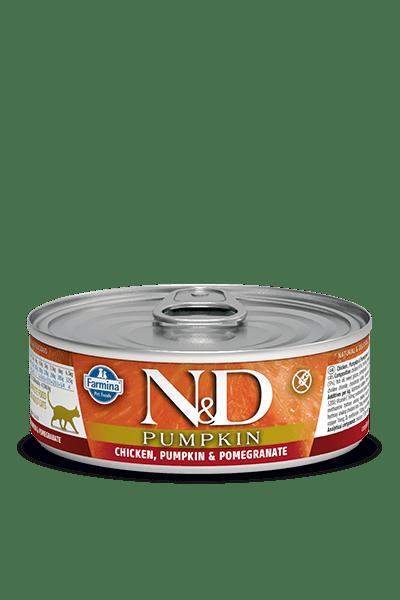 N&D CAT Cat Chicken & Pumpkin & Pomegranate консерва за котки с месо от пиле, тиква и нар