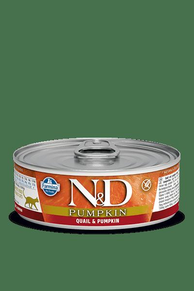 N&D CAT QUAIL & PUMPKIN консерва за котки с месо от пъдпъдък и тиква
