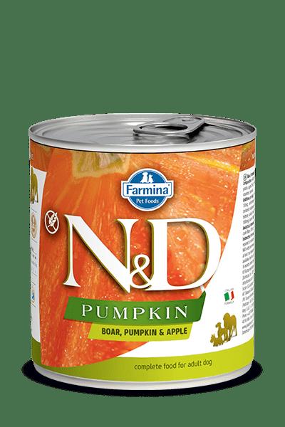 N&D DOG BOAR & PUMPKIN & APPLE консерва за кучета с месо от глиган, тиква и ябълки