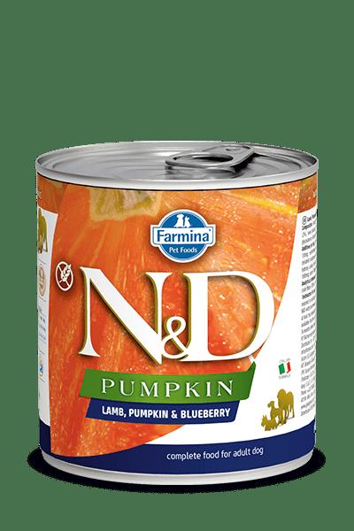 N&D DOG LAMB & PUMPKIN & BLUEBERRY консерва за кучета  с месо от агне, тиква и боровинки