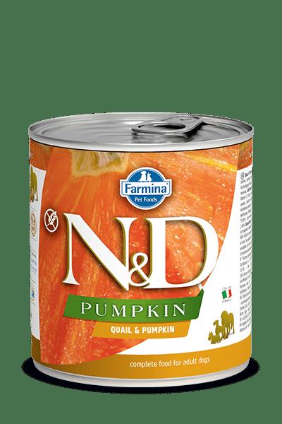 N&D DOG QUAIL & PUMPKIN консерва за кучета с месо от пъдпъдък и тиква