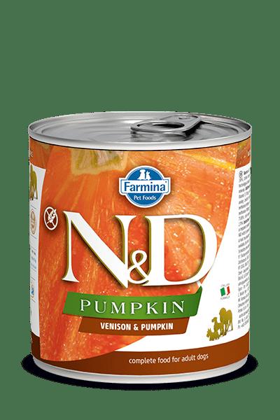 N&D DOG VENISON & PUMPKIN консерва за кучета с месо от елен и тиква