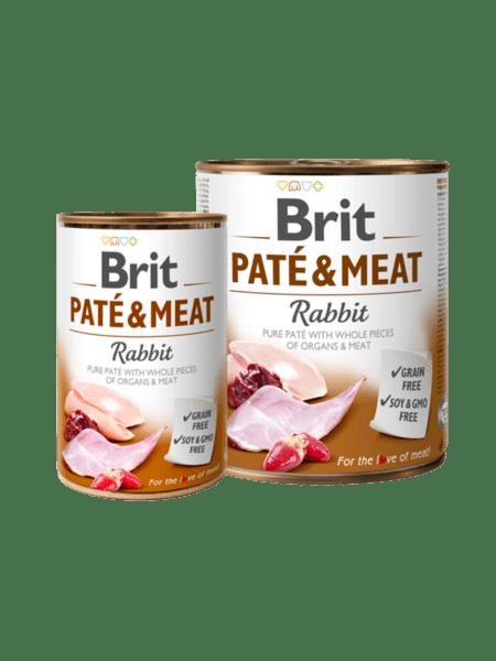 Brit Pate & Meat Rabbit - пастет с хапки за куче с заек и пиле