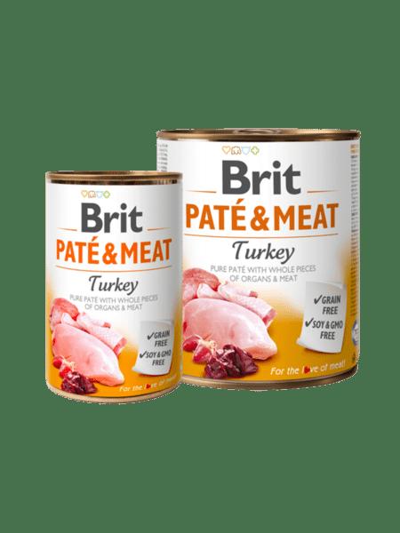 Brit Pate & Meat Turkey - пастет с хапки за куче с пуйка и пиле