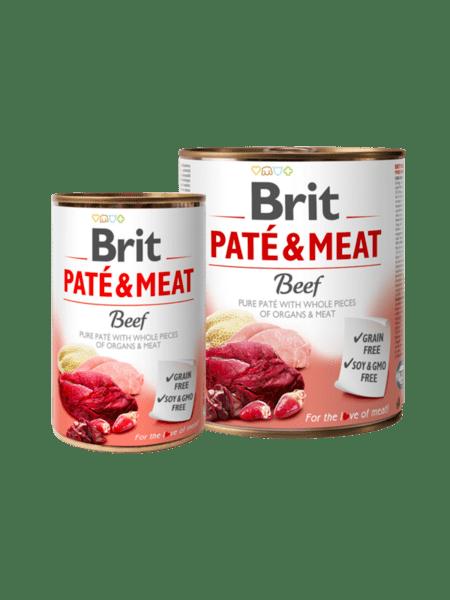 Brit Pate & Meat Beef - пастет с хапки за куче с говеждо и пуйка