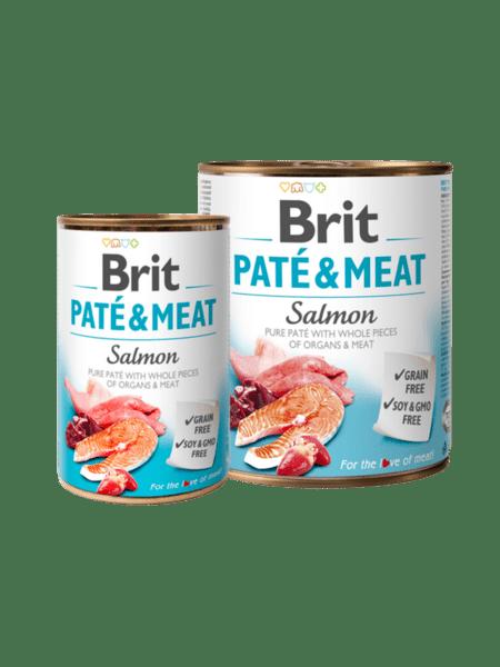 Brit Pate & Meat Salmon - пастет с хапки за куче със сьомга и пиле