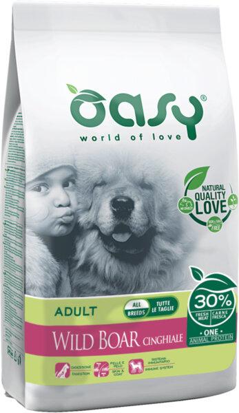 Храна за кучета Oasy Wild Boar Monoprotein Adult с глиганско за всички породи над 12 месеца