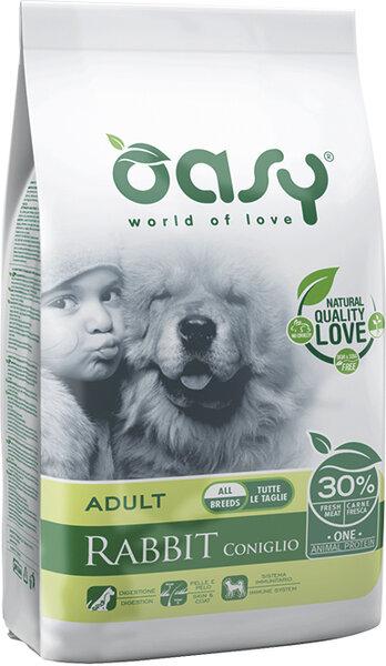 Храна за кучета Oasy Rabbit Monoprotein Adult със заешко за всички породи над 12 месеца