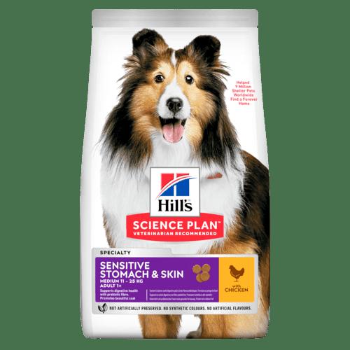 Hills SP Canine Adult Sensitive Stomach&Skin суха храна за кучета със чувсвителен стомах