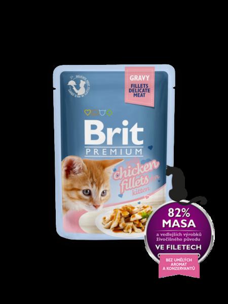BRIT CAT PREMIUM DELICATE с пиле за котки от 1 до 12 месеца