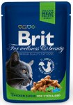 BRIT CAT PREMIUM POUCHES с пиле за кастрирани котки