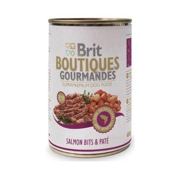 BRIT BOUTIQUES GOURMANDES - Консерва хапки в пастет с месо от сьомга