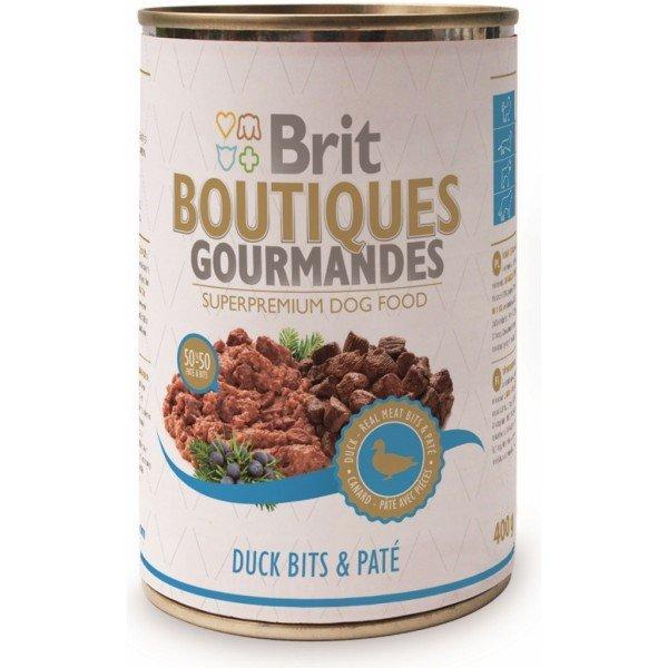 BRIT BOUTIQUES GOURMANDES - Консерва хапки в пастет с патешко месо