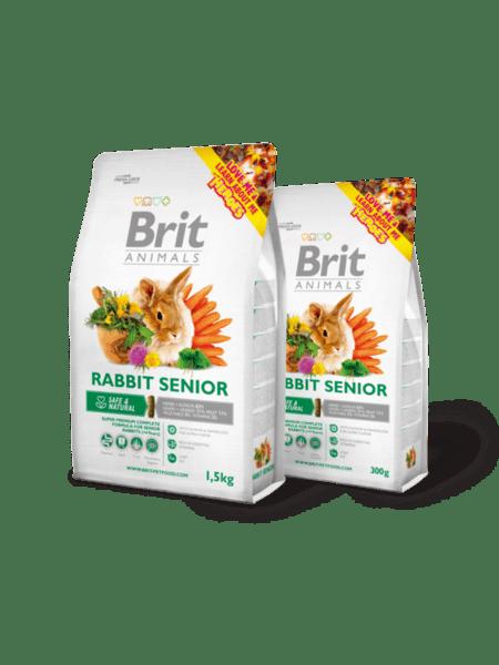 Brit Animals RABBIT SENIOR Complete пълноценна храна за възрастни зайци