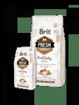 Brit Fresh Turkey with Pea Adult Fit & Slim  холистична суха храна за кучета склонни към наднормено тегло, с прясно пуешко месо и грах