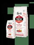Brit Fresh Beef with Pumpkin Puppy Large Bones & Joints холистична суха храна за подрастващи кученца от големите породи, с прясно телешко месо и тиква