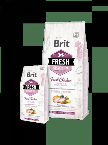 Brit Fresh Chicken with Potato Puppy Healthy Growth холистична суха храна  за подрастващи кученца, с прясно пилешко месо и картофи