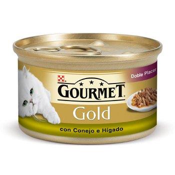 GOURMET GOLD двойно удоволствие със заек и черен дроб за котки