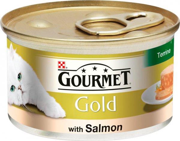 GOURMET GOLD хапки в пастет със сьомга за котки