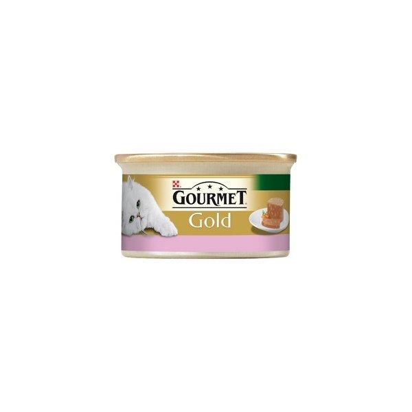GOURMET GOLD хапки в пастет с агне и патица за котки