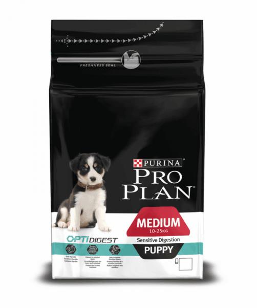 PUR PRO PLAN MEDIUM PUPPY храна за кучета от средни породи с пилешко