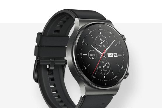Смарт часовник HuaweiGT 2 Pro с кафява каишка.
