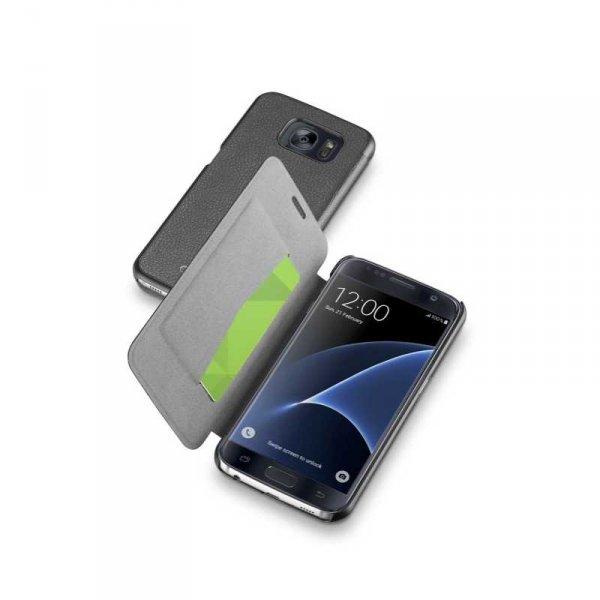 Калъф за смартфон Cellularline BOOK ESSENTIAL SAMSUNG GALAXY S7 BLACK