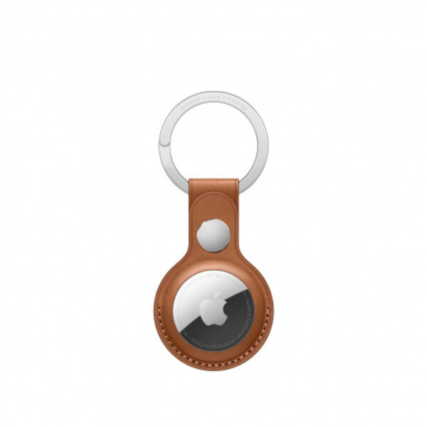 Apple AirTag Leather Key Ring - Saddle Brown mx4m2