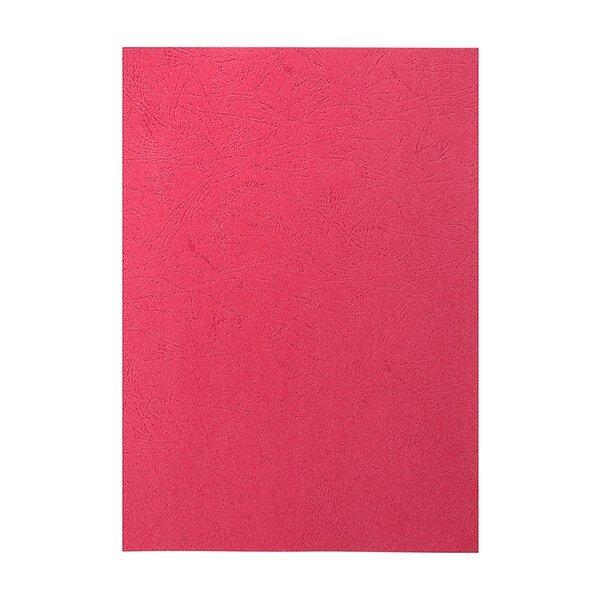 Top Office Корица за подвързване, картонена, A4, кожен дизайн, 210 g/m2, червена, 10 броя