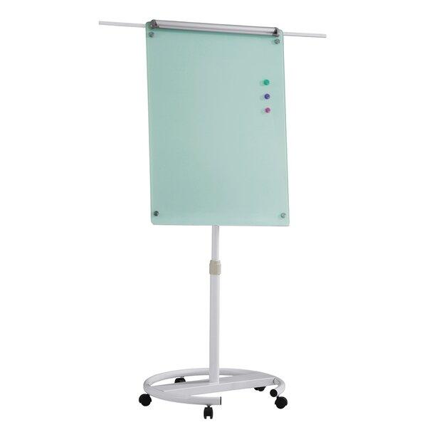 Top Office Флипчарт, 70 x 100 cm, стъклен, с рамена, на колела