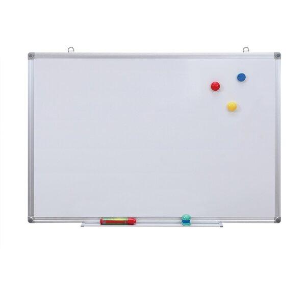Top Office Бяла дъска, 90 x 120 cm, магнитна, с алуминиева рамка