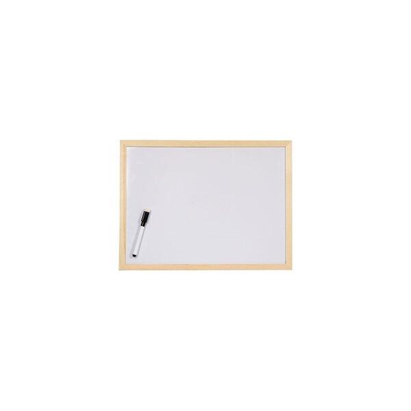 Office 1 Superstore Бяла дъска, с дървена рамка, 30 x 40 cm